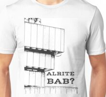 Alrite bab? on an editied photograph of Birmingham Old Library Unisex T-Shirt