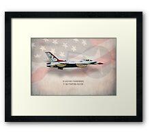 Thunderbirds F-16C Fighting Falcon Framed Print