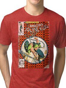 Jolyne Kujo homage Spiderman 300 Tri-blend T-Shirt
