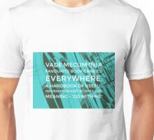 Vade mecum, definition - To go with me on an edited photograph of the New Birmingham Library facade Unisex T-Shirt