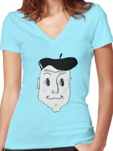 French Detective Women's Fitted V-Neck T-Shirt