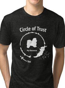 Funny Havanese shirt - Circle of Trust Tri-blend T-Shirt