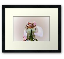 dried roses in the garden Framed Print