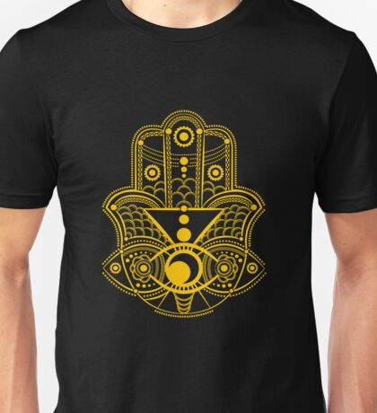 Hamsa hand. Нand of Fatima. Unisex T-Shirt