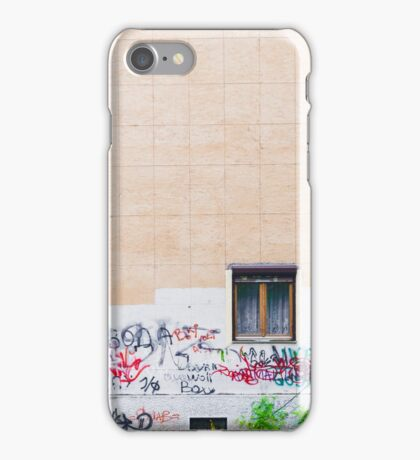 Pattern tile building wall graffiti iPhone Case/Skin