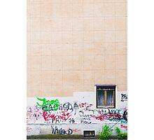 Pattern tile building wall graffiti Photographic Print