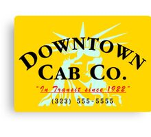 Downtown Cab Company Liberty Canvas Print