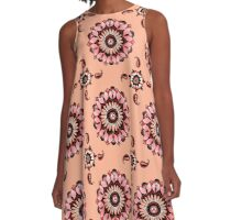 Mandala Flower Oasis Blush Kisses A-Line Dress