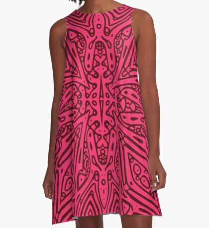 Red Vector A-Line Dress