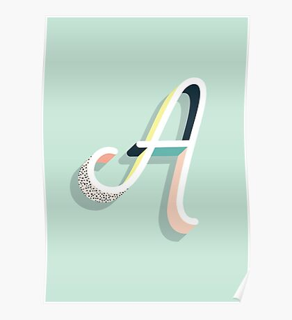 A - Typography Poster