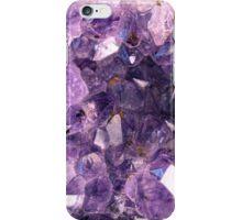 Amethyst crystals iPhone Case/Skin