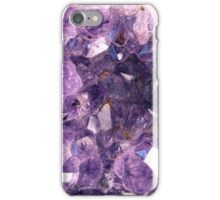 Amethyst crystals iPhone Case/Skin