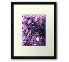 Amethyst crystals Framed Print
