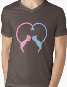 Mew Mens V-Neck T-Shirt