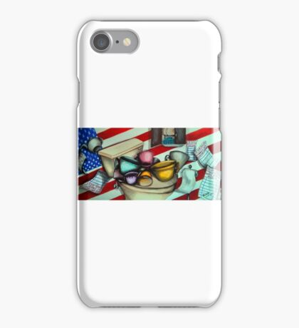 The Big Tea Party with a Cabinet Full of Ass-Wipes iPhone Case/Skin