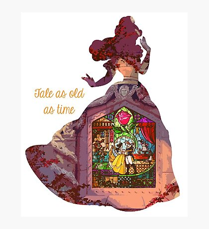 Tale as old as time - Belle Photographic Print