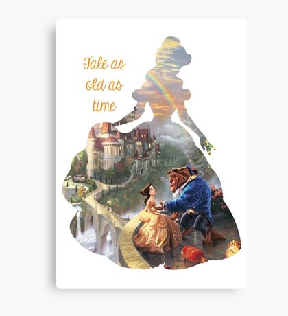 Tale as old as time - Belle mkII Canvas Print