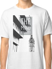 The Mind Boggles on an edited photograph of Birmingham's Big Brum and Old Library Classic T-Shirt