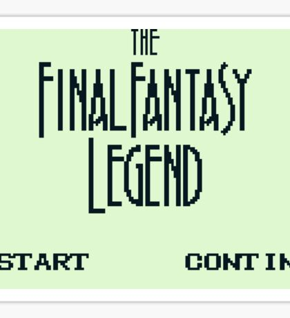 The Final Fantasy Legend (Gameboy Title Screen) Sticker