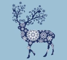 Blue Christmas deer Kids Clothes
