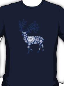 Blue Christmas deer T-Shirt
