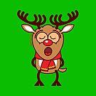 Sweet Christmas reindeer singing  by Zoo-co