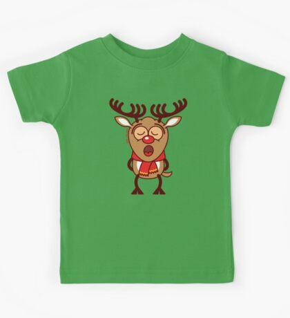 Sweet Christmas reindeer singing  Kids Tee