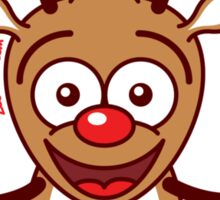 Cool Reindeer Decorating for Christmas Sticker