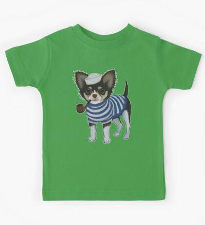 Sailor Chihuahua Kids Tee