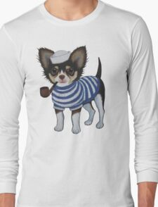 Sailor Chihuahua Long Sleeve T-Shirt