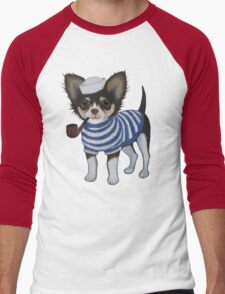 Sailor Chihuahua Men's Baseball ¾ T-Shirt