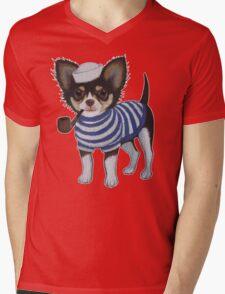 Sailor Chihuahua Mens V-Neck T-Shirt