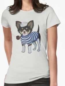 Sailor Chihuahua Womens Fitted T-Shirt