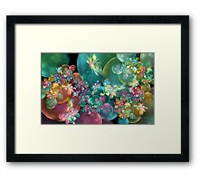 Butterflies, Bubbles and Flowers Framed Print