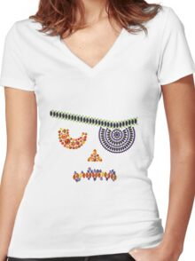 One Eyed Jack Women's Fitted V-Neck T-Shirt