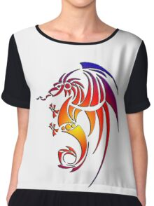 Dragissous V1 dragon Chiffon Top