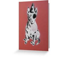 Red Graffiti English Bull Terrier Greeting Card