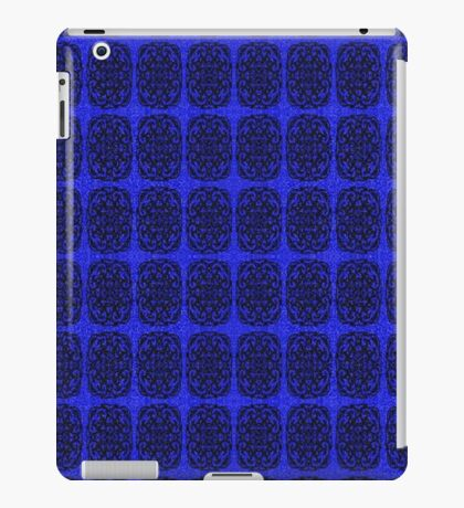 Blue and Black abstract pattern iPad Case/Skin