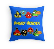 angry heroes Throw Pillow