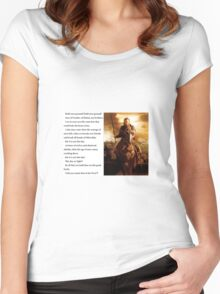 Lord of the Rings - Stand Men of the West Women's Fitted Scoop T-Shirt