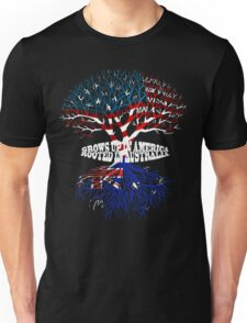 Grows up in America Rooted in Australia T-shirt Unisex T-Shirt