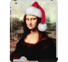 Mona Lisa Wearing a Santa Hat iPad Case/Skin