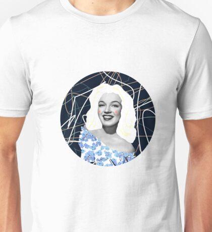 Marilyn in blue Unisex T-Shirt