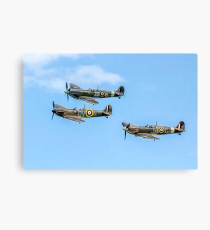 A Vic of Spitfires Canvas Print