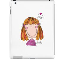Friends - Love to listen ipod cover/case iPad Case/Skin