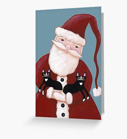 Santa and His Helpers Greeting Card