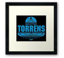Torrens (blue) Framed Print