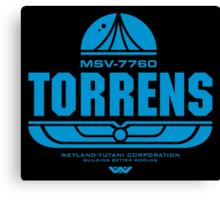 Torrens (blue) Canvas Print