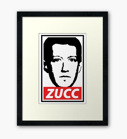 OBEY THE ZUCC Framed Print
