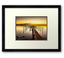 Beso del Sol Sunset Framed Print